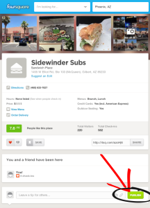 Review Sidewinder Subs on Foursquare